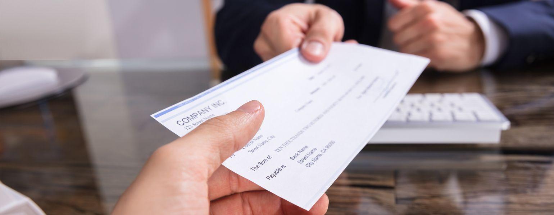 How do a check looks like