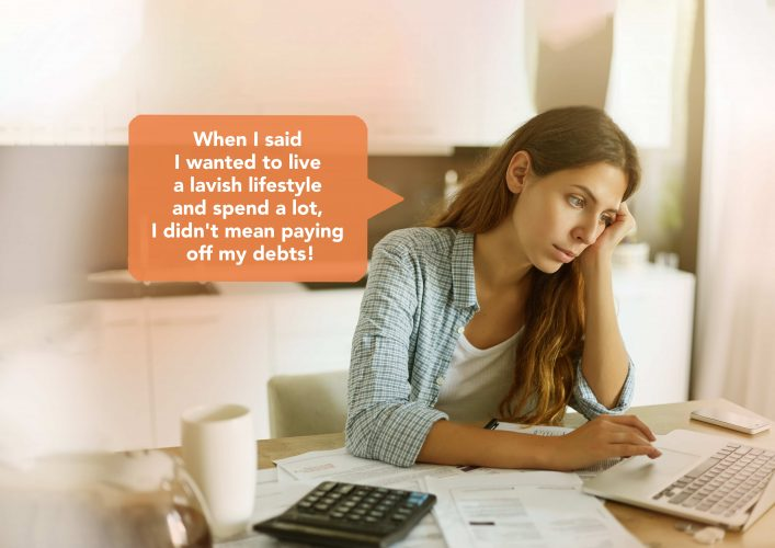The first step to getting out of debt is to assess your debt